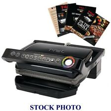 T-fal OptiGrill Indoor Electric Grill with Removable Plates Black GC702853 New