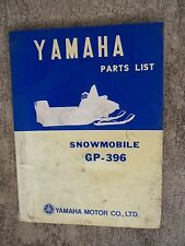 **1970 Yamaha GP-396 Snowmobile Illustrated Parts List MORE SNO-MO IN STORE  V