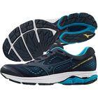 Mizuno WAVE RIDER 22 Blue Peacoat Primrose Yellow Running Trainers Men's New