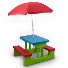 Bituxx Kindersitzgruppe Kindermöbel Sitzgarnitur Kinder Garten inkl Sonnenschirm