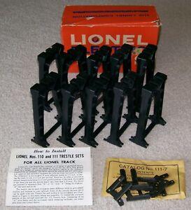 Lionel Postwar Original 111 Black Trestle Set w/OB, Instructions & Envelope ~ EX