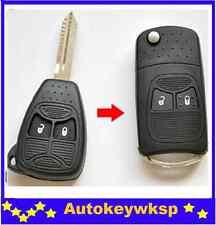 Chrysler Jeep Cherokee 2 Button Remote Compass Wrangler Patriot flip key shell