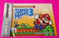 Super Mario Bros. 3 - Nintendo Game Boy Advance Instruction MANUAL ONLY -No Game