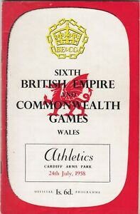 SIXTH BRITISH EMPIRE & COMMONWEALTH GAMES PROGRAMME - ATHLETICS, 24th July, 1958