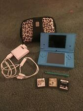 Nintendo DSi, Blue with 3 games, 2 stylus, case and dual charger