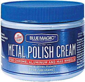 Blue Magic Metal Polish Cream for Chrome, Aluminum and Mag Wheels, 400 7Oz