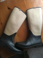 Hunter Rain boots 2-tone Brown/Beige Women's Size 10
