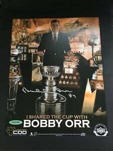2019 Upper Deck Certified Diamond Dealer Excusive Bobby Orr autographed 8x10