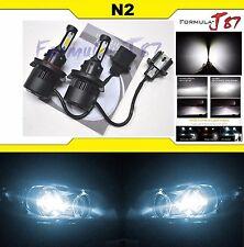 LED Kit N2 72W 9008 H13 6000K White Two Bulbs Head Light Plug Play Upgrade Lamp