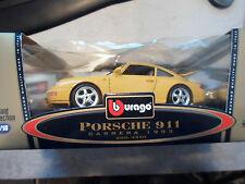 NIB BURAGO PORSCHE 911 CARRERA 1993 1/18 GOLD COLLECTION COD 3350