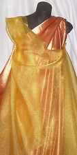 Yellow Crystal Organza Fabric per MTR