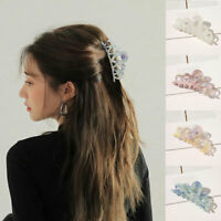 Korean Cute Leopard Hairpins Large Square Hair Clip Geometric Acetate Hair Claws