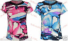 Body2Body Ladies Floral Print Cap Sleeve Top with Keyhole and Binding Size 12-22