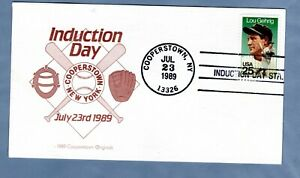 1989 Sc #2417 Lou Gehrig, Induction Day, Cooperstown Originals Cover
