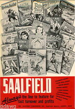 1951 ADVERT Saalfield Publishing Co Children Books John Wayne Colloring Books ++