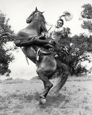 KEN CURTIS 8X10 PHOTO ON HORSE COWBOY
