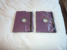 2 x FLIP iPad 360 Rotating CASE COVERS for IPAD 2/3/4 New & Sealed In Purple