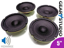 "4x HI-FI Replacement Speaker Cone Mid range Frequency 5"" 125mm 40W 8 Ohm Speaker"
