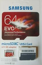 Samsung Evo 64GB Micro SD Memory Card UHS -I Class 10 with Adapter