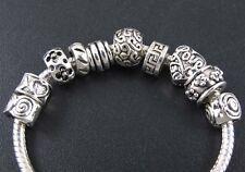 100pcs Fashion Tibetan Silver Spacer Beads Fit European Bracelet New100%