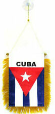 "Cuba Mini Flag 4""x6"" Window Banner w/ suction cup"