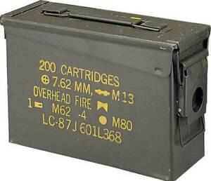 .30 Caliber Metal Original US Military Surplus M19A1 Ammo Can US Surplus USED