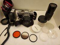 Vinage Minolta SRT 101 Camera With Accessories..J42