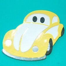 PK 3 Amarillo escarabajo coche dado corta para Tarjetas y Manualidades