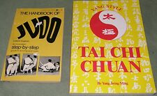 Lot 2 Handbook of Judo + Tai Chi Chuan Martial Arts Self Defense TWO BOOKS Nice!