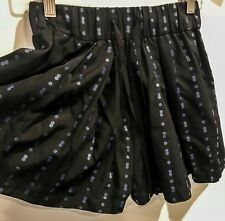 Alpha 60 Black Pleat Shorts With Blue Spots And Pockets