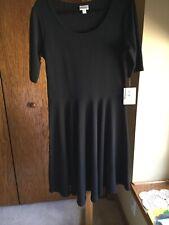 Lularoe Womens Solid Black Nicole NOIR Dress Size 2XL Textured Unicorn