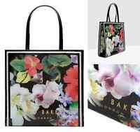 TED BAKER Ladies Handbag MEECON Icon Tote Bag LARGE Pvc Black Shoppers Bags BNWT