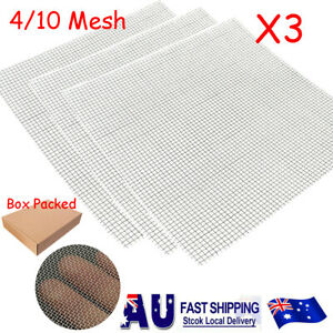 3pcs 4/10 Mesh Stainless Steel Filtration Wire Woven Cloth Screen Filter Sheet