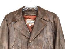 Men's Vintage Grais CABRETTA Brown Leather Jacket/Lined Coat 40 R Fight Club
