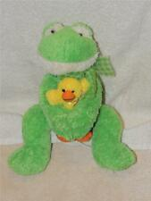 Mary Meyer Hugs Me Close Floppy Frog with Baby Duck TAGS  Plush Stuffed Easter