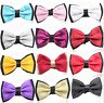 Mens Luxury Dickie Bow Tie Two Layer Formal Shirt Wedding Prom UK