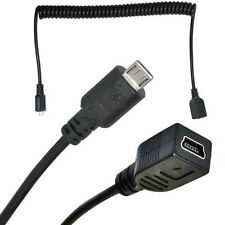 1.5m Mini USB en espiral 5 Pin Hembra Jack A Macho Adaptador Cable Micro 5pin 5P