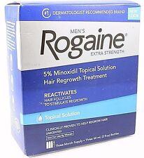 Rogaine/REGAINE 3 Monate Männer Minoxidil 5% topische Tropfen Haarausfall Behandlung