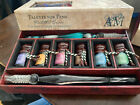 NEW AM Calligraphy Set Authentic Models THE WRITING COLLECTION PALETTE FOR PENS