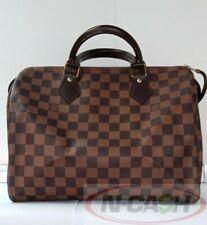 LOWBID! AUTHENTIC $950 LOUIS VUITTON Speedy 25 Damier Ebene Canvas Bag