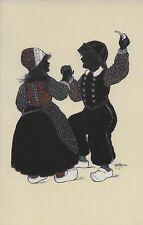 "Alwin Freund ""Einmal hin, einmal her..."" Dutch couple dancing Vintage unused"
