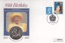 Queen Mother's 95th Birthday  Guernsey £5.00 Coin Commemorative Cover