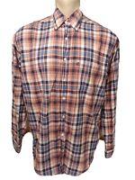 Brooks Brothers Men's (L) Large Multi Color Plaid Long Sleeve Button Up Shirt