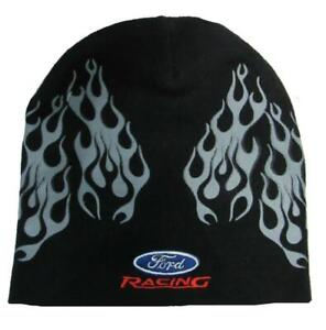 New Ford Racing Mens Size OSFA Black Beanie