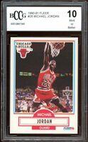 1990-91 Fleer #26 Michael Jordan Card BGS BCCG 10 Mint++