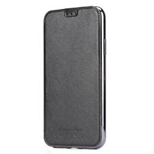 US PU Leather Flip Wallet Card Holder Case Cover Back Clear For iPhone XS XR MAX
