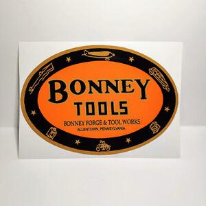 Bonney Tools Vintage Style DECAL, Vinyl STICKER, rat rod, tool box, hot rod
