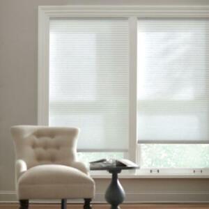 CUSTOM CUT Home Decorators Snow Drift Light Filtering Cordless Cellular Shade