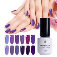 BORN PRETTY Nail Art UV Gel Polish Soak Off Nail Gel Varnish Purple Color Decor