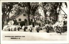 Meredith NH Winnipesaukee Homestead Farm Real Photo Postcard